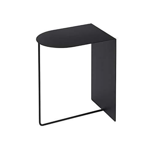 LICHUAN Mesa de centro de estilo nórdico, mesa auxiliar de metal simple y pequeña, mesa de café portátil, tamaño pequeño, ideal para dormitorio, mesita de noche, oficina, sala de estar
