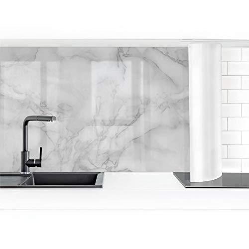 Bilderwelten Crédence adhésive - Marble Look Black and White 70 x 400 cm Smart