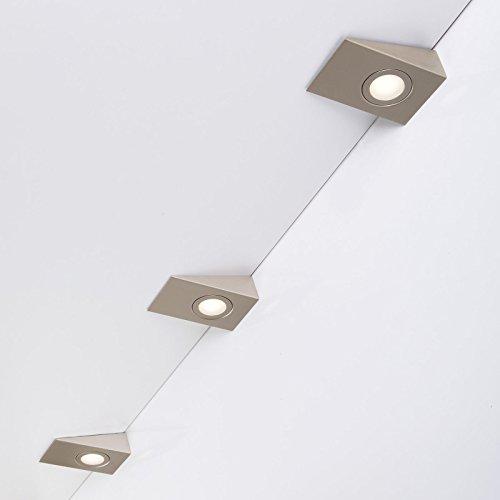 Juego de 3 x SO-TECH® Luz curadrado LED debajo de mueble de cocina