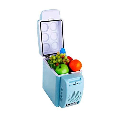 MUTE CUCHE Frigorífico, 7L Refrigerador Inicio Mini Estudiante Dorm Macie Leche Leche Refrigeración 24V Mini Frigorífico Pequeño Congelador Refrigerador Nevera-Azul 30.3x17x31cm (12x7x12 pulgadas) pen