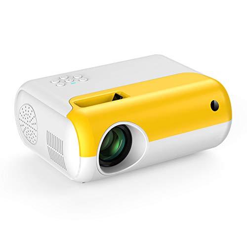 RSGK Proyector LCD para Niños, Resolución 800 * 480, Brillo De 2800L Y Pantalla De 80 Pulgadas, Vida del LED De 30000Hrs, Compatible con VGA, PS4, HDMI, TF, USB