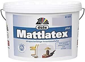 Düfa Mattlatex D 422 / Latexfarbe matt, weiss/schneeweiss / 5 L/für stark beanspruchte Flächen/Malerqualität vom Fachmann'