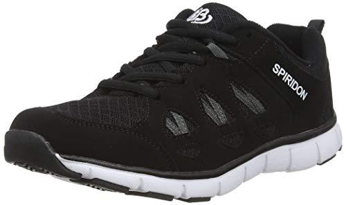 Bruetting SPIRIDON FIT, Unisex-Erwachsene Sneakers, Schwarz (SCHWARZ/WEISS), 43 EU (9 Erwachsene UK)