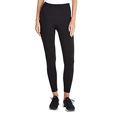 Danskin Women's Active High Waist Space Dye Legging, Black Salt, Small
