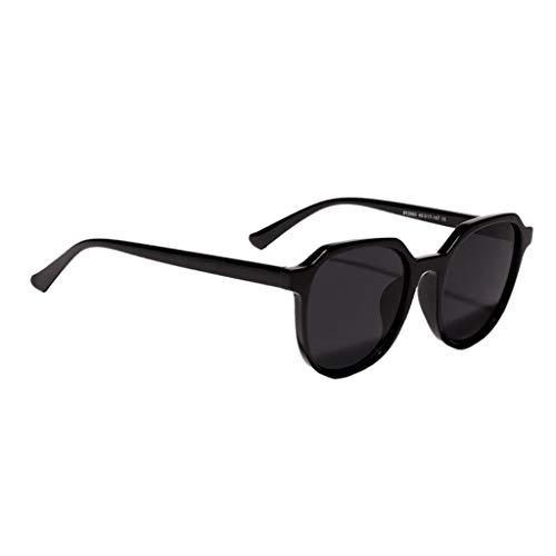 Amuzocity Gafas de Sol de Montura Grande Vintage Gafas Clásicas UV 400 Gafas de Disfraz - Negro
