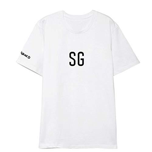 APHT Unisex BTS Bangtanboys SUGA Top Short-Sleeved Summer Tees Rundhals Kurzarm Funny Army Bangtan Boys SUGA Hip Pop T-Shirt Für Damen Herren Jungendlichen