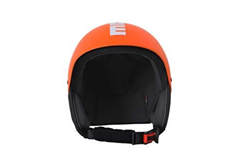 MOMO Design Komet18 Skihelm für Erwachsene, Unisex - Erwachsene, 1018C030033, Orange Matt/Bianco, 54-55