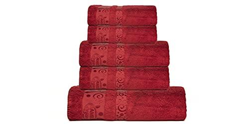 Sikel Home Fashion Juego de toallas de ducha y toallas de mano, 100 % bambú orgánico, lavable a máquina, altamente absorbente, sostenible, hipoalergénico
