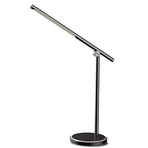 bureaulamp led 10 W tafellamp grote bureau licht 5 modi & 5 helderheid niveaus daglicht lamp oogbescherming lamp arm verstelbare USB-poort naar de lading van USB-apparaten studie kantoor