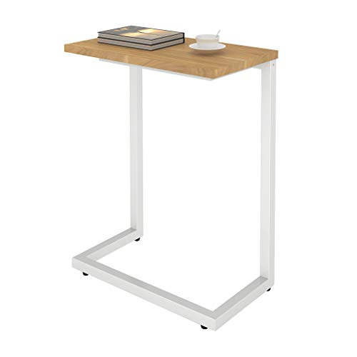 Sunon Side Table, Sofa End Table, Coffee Table, with Metal Frame, Nightstand Table Beside Table, Easy to Assemble, for Living room, Bedroom, Kitchen, Virginia Walnut