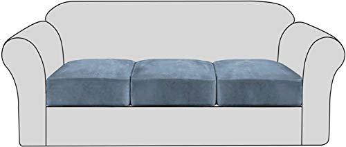 ZHTY Funda de cojín de sofá Antideslizante de Terciopelo elástico - Fundas de Asiento de sofá extraíbles con Fondo elástico, Protector de Fundas de Muebles elásticos Lavables para niños y Mascotas