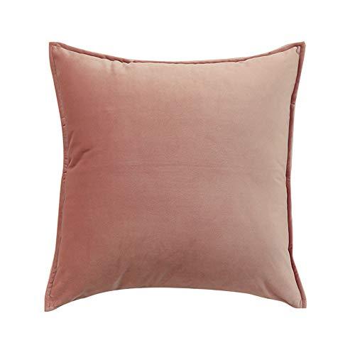 YAHE Cojines para sofá,Cojines para sofá Grises,cojín de Almohada de Terciopelo Grueso de Color sólido sofá de Oficina en casa neoclásico 65 * 65 cm,decoración del hogar con Cremallera Invisible