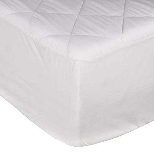 Sleepdown Quilted Fitted Mattress Protector/Pad With Extra Deep Pocket fits up to 30 cm, King 150 x 200 cm