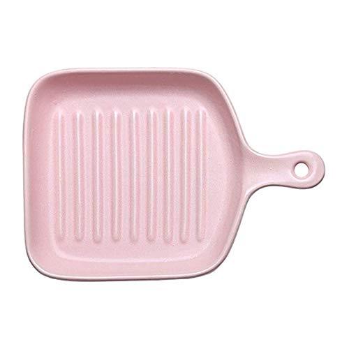 Bandeja de Fuente para Horno Plato de horno de cerámica, plato de senderos, plato para hornear rectangular, bandeja de hornear de cerámica, platos de cocina para horno (Size : F-5)