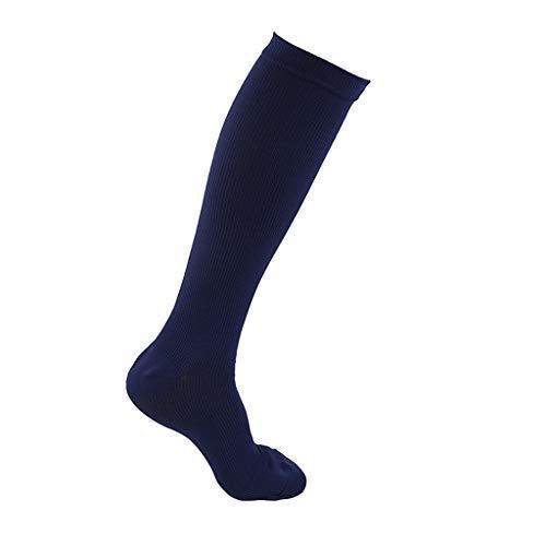 BHJqsy Medias, calcetines hermosas piernas, medias elásticas de compresión, 1 par Mujer Ternero Compresión medias de la manera talladora de la pierna elástico de la manguera de presión de Deportes