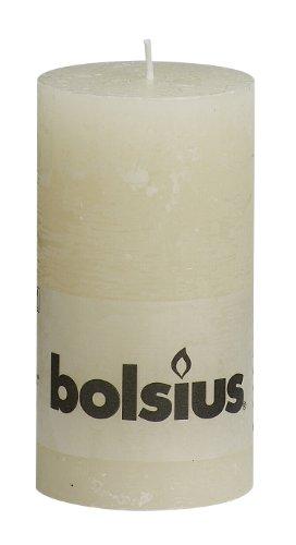 Bolsius Regular Textured Pillar Candle in 'Ivory'