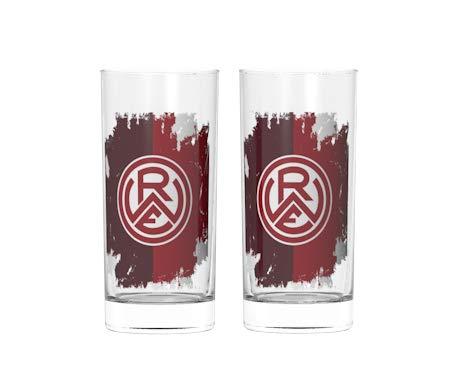 """Rot-Weiss Essen Trinkglas """"Logo"""" 2er-Set farbig - Fassungsvermögen: 0,2 Liter"""