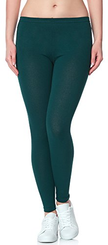 Ladeheid Leggins Pantalones Largos Ropa Deportiva Mujer LAMA02 (Verde Oscuro2, XS/S)