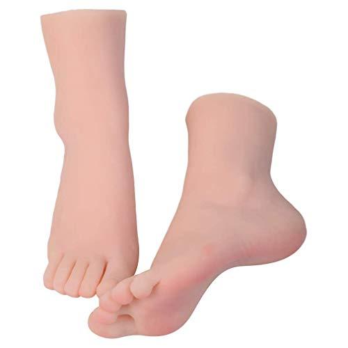 1 Paar- Weibliche Fuss-Fuss-Modell Mannequin Realistische Ungiftiger Latex Odorlessness, Kunst Sketching Fußfetische Für Männer