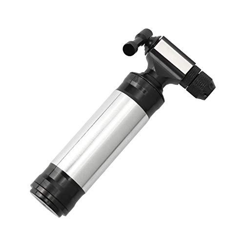 lahomia Inflador de neumáticos de bicicleta CO2-con válvulas Presta y Schrader en carretera, MTB y bicicletas gordas, bomba portátil de Mini bicicleta - Pump and Sleeve