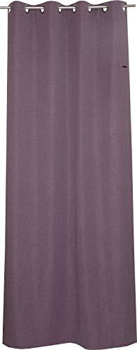 ESPRIT Ösen Vorhang lila Blickdicht • Gardinen Vorhang 2er Set • Ösenschal 140 x 250 cm Harp • 100% Polyester