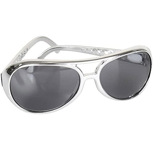 Gafas De Sol Gafas De Elvis Clásicas con Montura Dorada con Disfraz De Elvis Sunglasse Gafas De Sol De Elvis Silvernohair