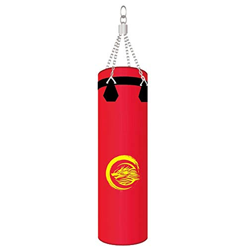 Boxsack Boxsack for Erwachsene Kinder Boxsack Boxsack Indoor Garten for MMA Kickboxen Boxzubehör (Color : Red, Size : 120cm)