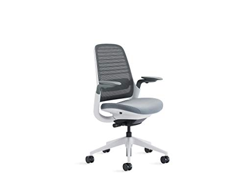 Steelcase Series 1 Office Chair, Carpet Casters, Graphite/Grey