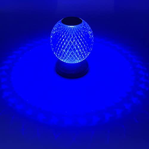 HSART Lámpara De Mesa RGB Diamond Luz De Noche De Atmósfera De Control Remoto, Batería 2000mah Control Tactil, Decoración De La Cabecera del Dormitorio