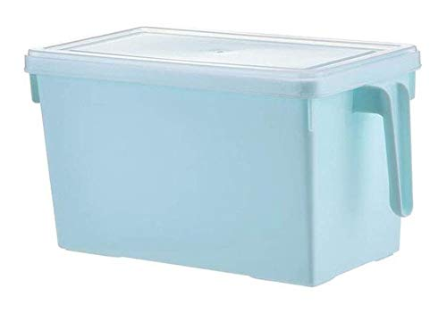 QFLY Tarros Cocina Cereal contenedores de plástico cajón de la Cocina Tipo Nevera Caja de Almacenamiento de contenedores de Almacenamiento de Alimentos Acabado Cuadro Botes Cristal Cocina
