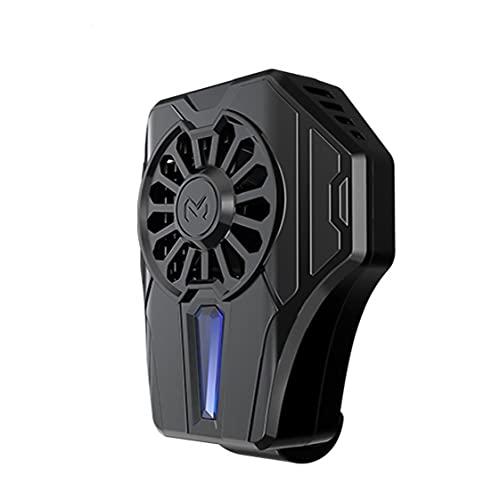 NaiCasy Teléfono móvil Teléfono radiador refrigerador Ventilador de pie con la manija fría del Viento del Ventilador para el teléfono Inteligente Negro