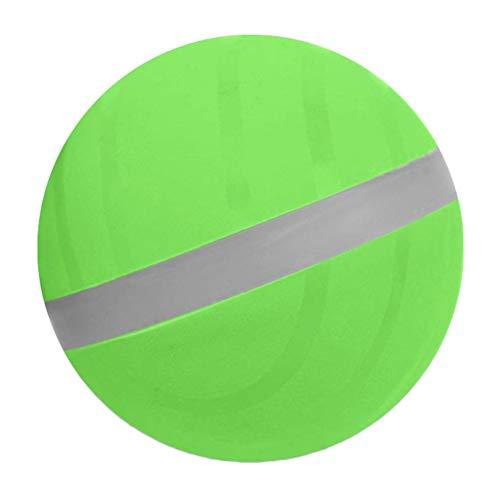 Springball Blinkender, Crazy Ball Springen Ball LED leuchtball für Hunde Fun Toy Hundespielball für Große & Kleine Hunde(Grün)