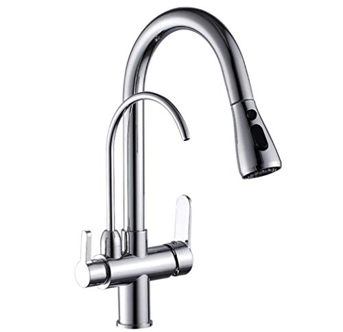 GROHES Pull Out Kitchen Taps with Drink Water Filter Function Kitchen Sink Mixer Taps 3 in 1 Water Filter...