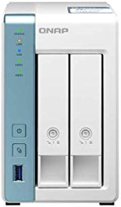 Processore quad-core 1,7 ghz - con 2 gb  e applicazioni  qnap ts-231p3-2g 2 bay desktop enclosure