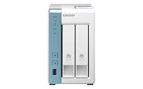 QNAP TS-231P3-2G 2 bay Desktop Enclosure - 2GB di RAM, Processore quad-core 1,7 GHz - con 2 GbE e applicazioni ricche di funzioni per casa e ufficio