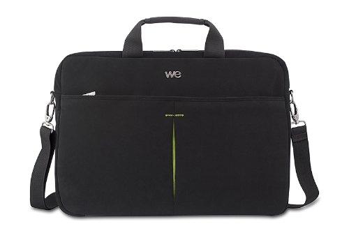 We LUXURY laptoptas (15,6 inch, elastisch), zwart/groen