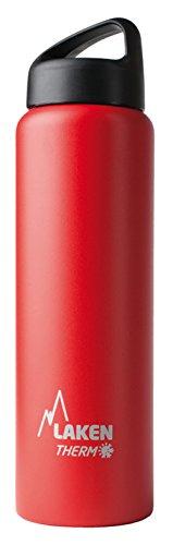 Laken Classic Botella Térmica Acero Inoxidable 18/8 y Doble Pared de Vacío, Unisex adulto, Rojo, 750 ml