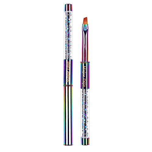 Loriver Nail Art Brush, Regenbogen Nail Gel Brush Maniküre Acryl UV-Verlängerungsstift für Nail Painting, Style C.