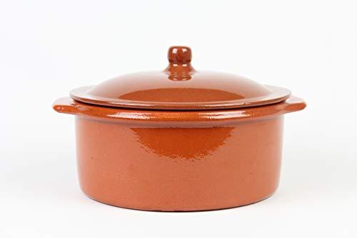2. Artesanía Roca – Olla de barro con capacidad de 3 litros y tapa cuajadera