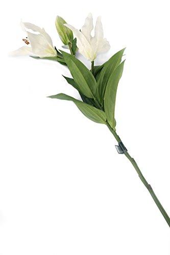 Floral Elegance F070WL - Lys Oriental artificiel blanc de 87 cm