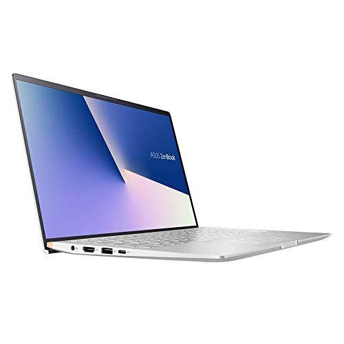 ASUS ZenBook 14 UM433DA (90NB0PD6-M00580) 35,5 cm (14 Zoll, Full HD, matt) Ultrabook (AMD R7-3700U, AMD Radeon RX Vega 10 Graphics, 8GB RAM, 1TB SSD, Windows 10) Icicle Silver