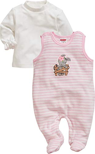 Schnizler Baby-Mädchen Set Nicki Ringel Esel Strampler, Rosa (Rosa 14), (Herstellergröße: 56)