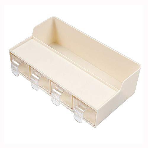 STRAW Caja de Almacenamiento de Cocina Multifuncional 4 Rejilla Transparente con Cuchara Caja de condimentos Juego de estantes de Cocina Estante de Almacenamiento