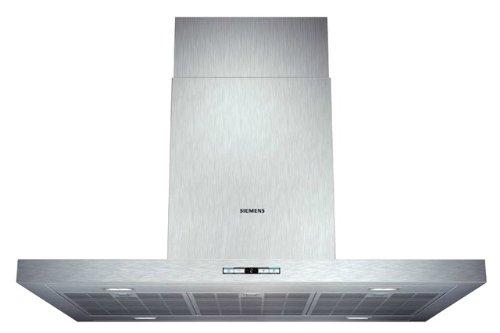 Siemens LF98BB542 iQ500 Inselhaube / 90 cm / Wahlweise Abluft- oder Umluftbetrieb / Metall-Fettfilter, spülmaschinengeeignet / edelstahl