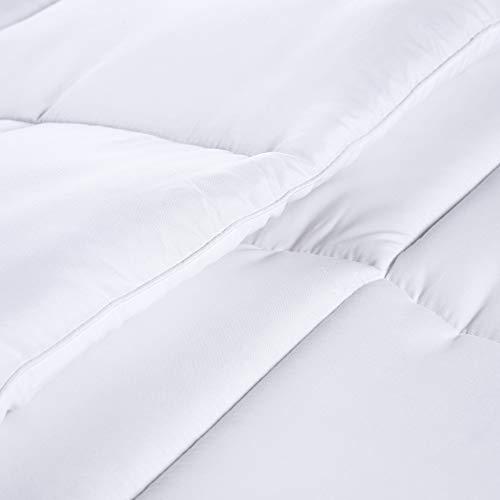Utopia Bedding Comforter Duvet Insert - Quilted Comforter with Corner Tabs -  Box Stitched Down Alternative Comforter (Queen, White)