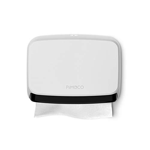 PiiMOCO(ピモコ) スリムペーパータオルホルダー 壁掛け トイレ キッチン 洗面所 ホワイト