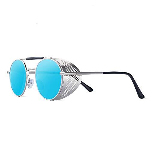 Único Gafas de Sol Sunglasses Gafas De Sol Redondas Steampunk Hombres Mujeres Moda Gafas De Metal Diseño Gafas De Sol Vi