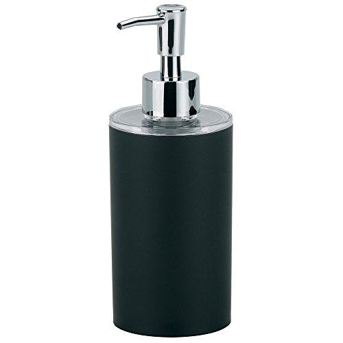 kela Seifenspender Dark aus ABS-Kunststoff in schwarz, Plastik, 6.5 x 6.5 x 18.5 cm