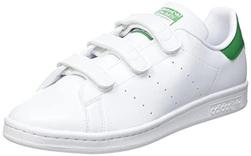 adidas Stan Smith, Scarpe da Ginnastica Uomo, Ftwr White/Ftwr White/Green, 42 EU
