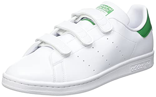 adidas Stan Smith, Scarpe da Ginnastica Uomo, Ftwr White/Ftwr White/Green, 46 2/3 EU